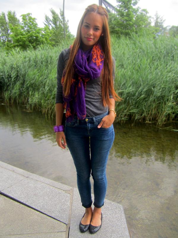 Outfit: Lila und Orange » teetharejade
