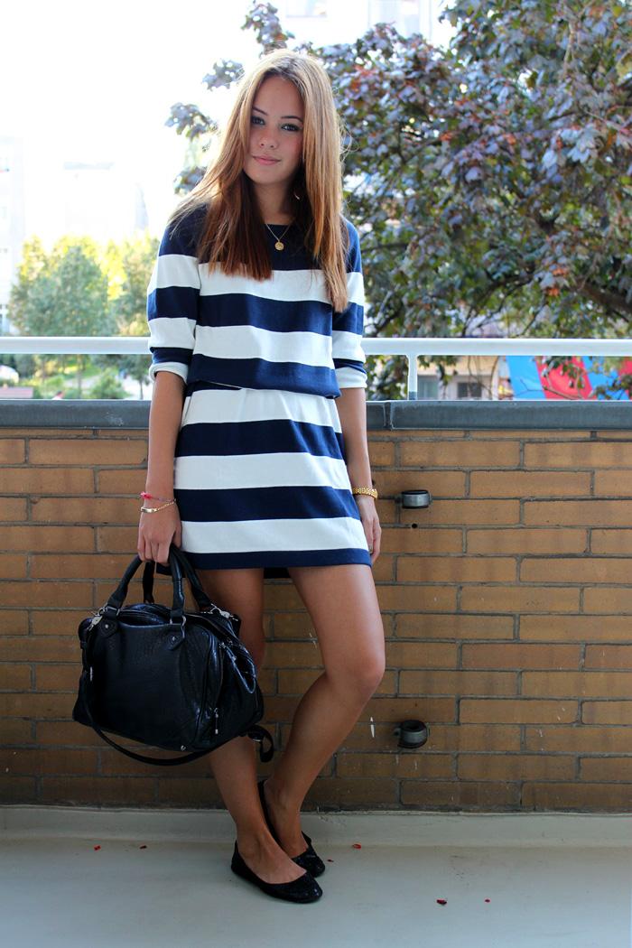 Gestreiftes Jersey Kleid H&m