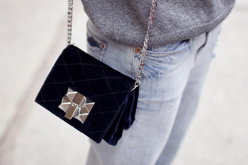 Teetharejade com zara quilted velvet bag monki jumper for Boyfriend jeans mit netzstrumpfhose