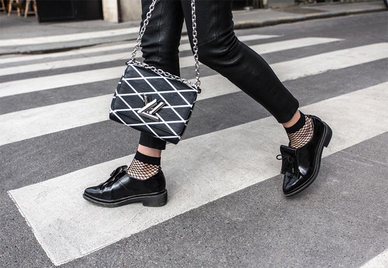48bd24baaa2b4 Fishnet Tights - Trend alert! Worn with Louis Vuitton Twist Malletage PM Bag