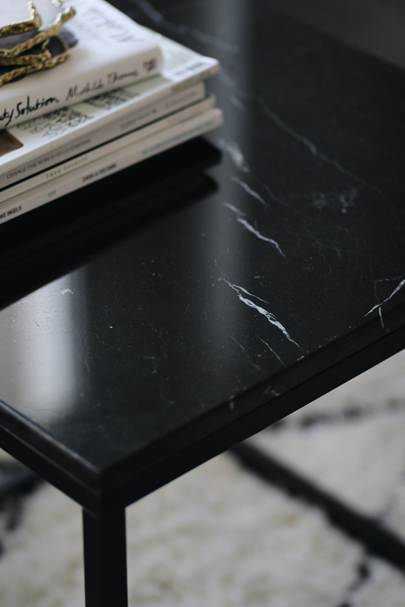 Interior Inspiration - The living room. Black marble table