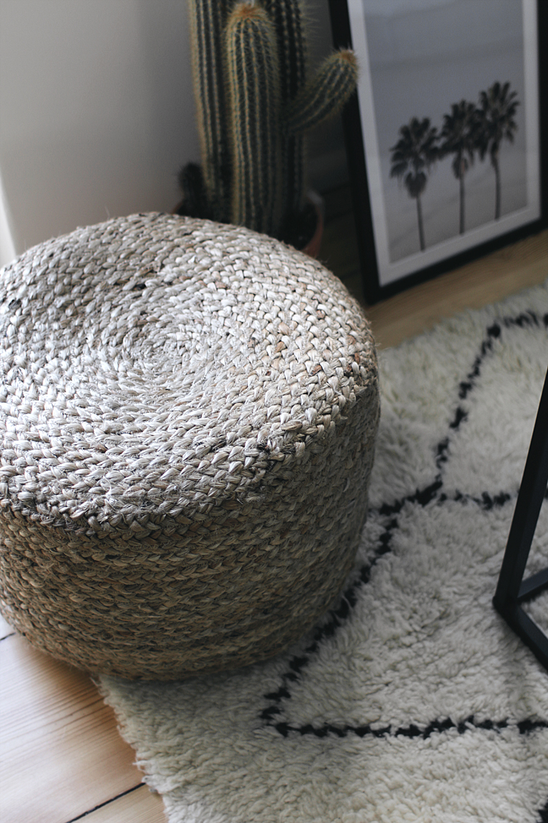 Interior Inspiration - The living room. Pouf made of hem fibre. Moroccan vibes