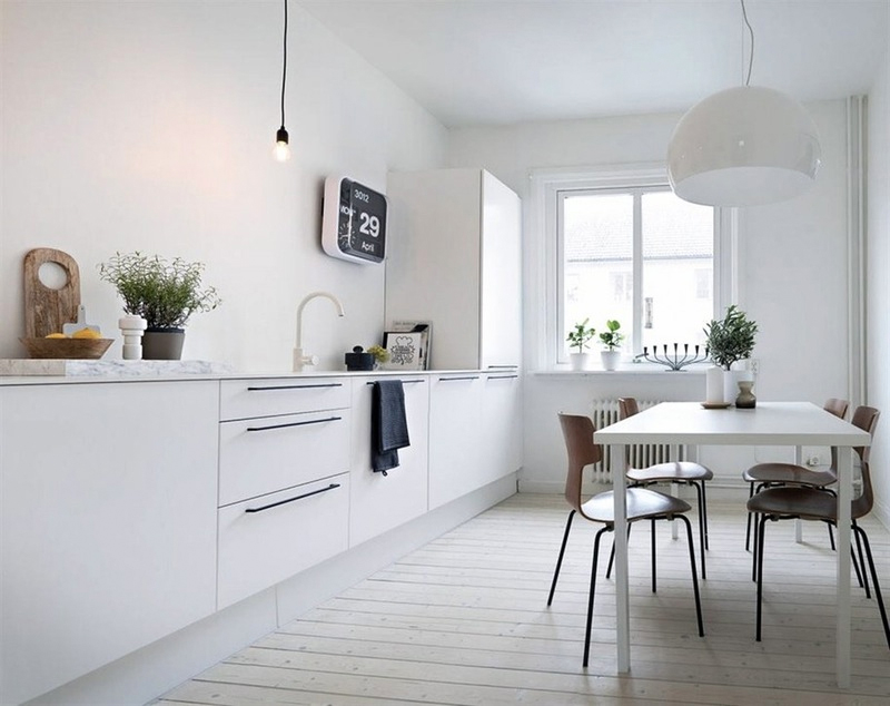 Scandi Kitchen White Cupboards And Cabinets To Enlarge And